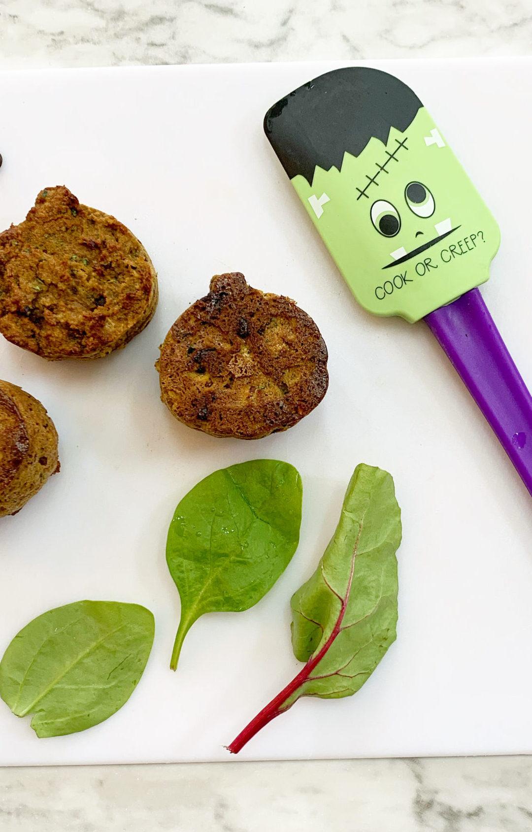 Frankenstein Muffins (dairy free + paleo)